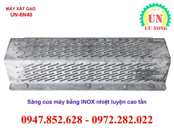 sàng xát của máy xát gạo mini được làm bằng INOX nhiệt luyện cao tần chống chịu mài mòn tốt độ bền cao