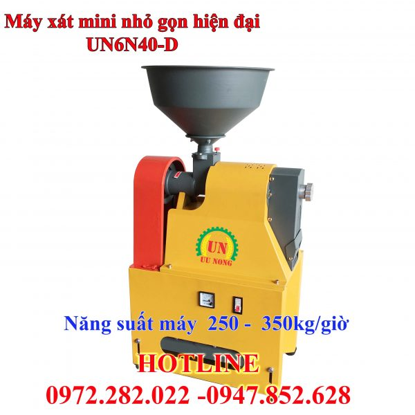 máy xát gạo mini liên hoàn thiết kế hiện đại
