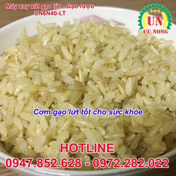 cơm từ máy xát gạo mini liên hoàn