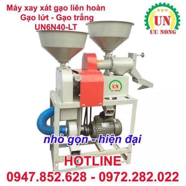 máy xay xát lúa gạo liên hoàn mini