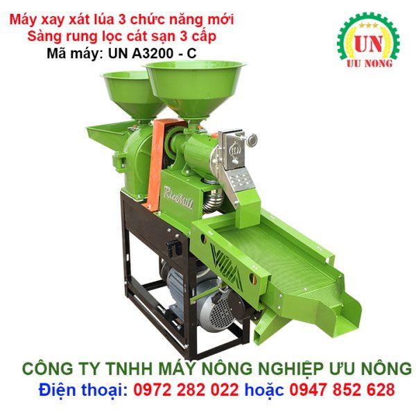 máy xay xát lúa gạo 3 tác dụng ưu nông