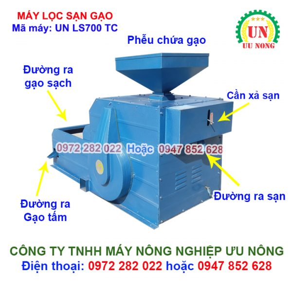 máy lọc sạn gạo, máy lọc sạn, máy lọc sạn gạo 700kg, máy lọc tấm lọc sạn gạo 700kg/giờ, máy lọc sạn 700kg/h